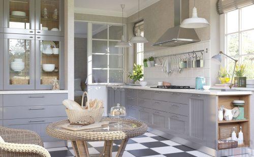 Дизайн кухни в серых цветах