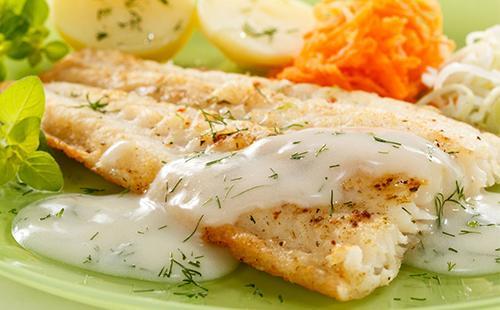 Запеченное филе рыбы