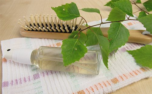 Листья и масло березы