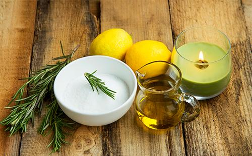 Крем, оливковое масло, лимоны