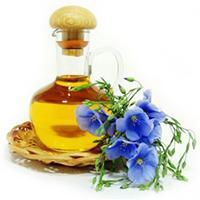 Жёлтое масло из синих цветов льна
