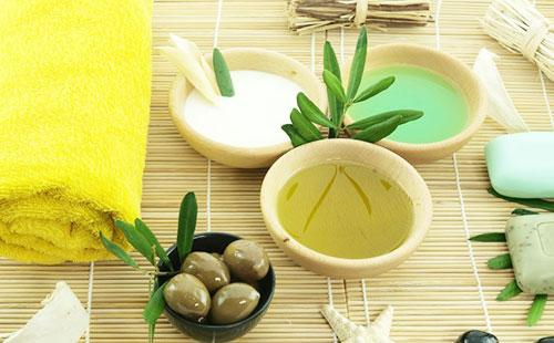 Ингредиенты для маски с оливковым маслом