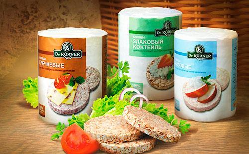 Упаковки хлебцов